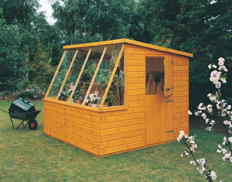 Potting Shed Including Assembly Honey Brown