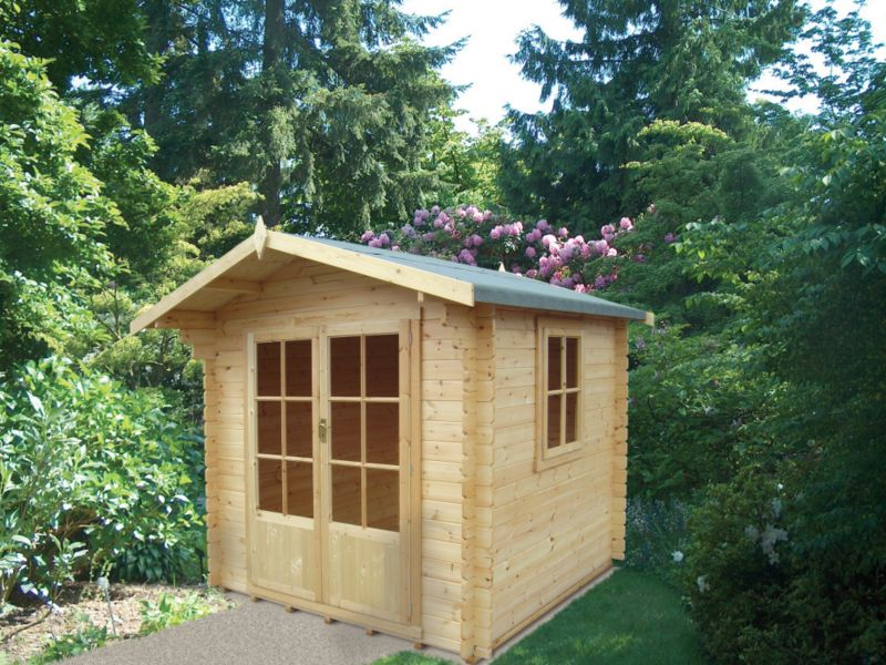 Fiston Pine Cabin Including Assembly (H)2.41 x (W)2.39 x (D)2.39m