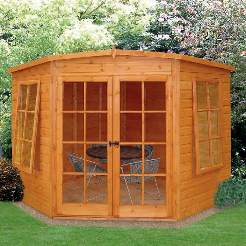 Hampton Wooden Corner Summerhouse 8ft x 8ft Including Assembly