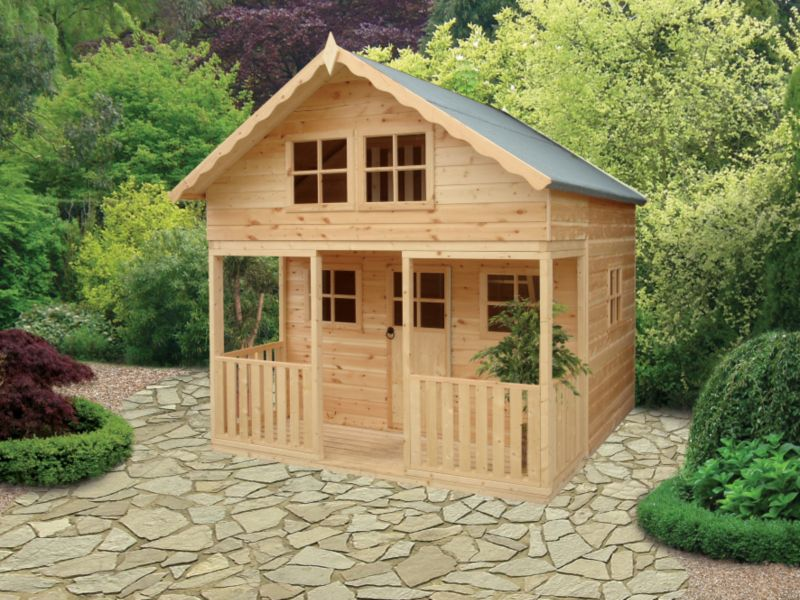 Lodge Playhouse Including Assembly Honey Brown