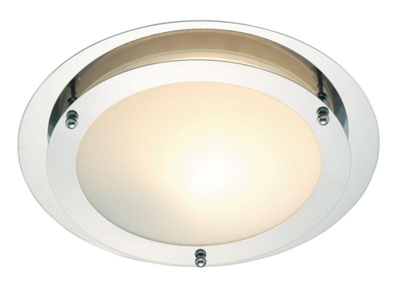 Vulcan 1 Light Flush Ceiling Light with Acid