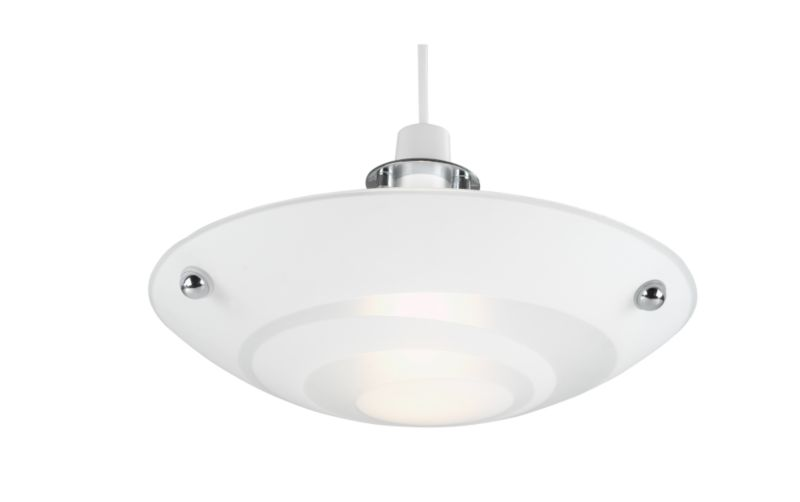 Alta Swirl Decorated UpLighter BQ50510 White Glass with Swirl Acid Decoration (Dia) 300mm