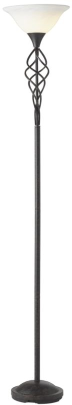 Tempest Spiral Floor Lamp 60408 Rust Paint