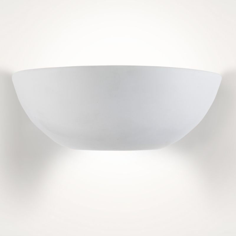 Cashback Volos Ceramic and Glass Wall Light White