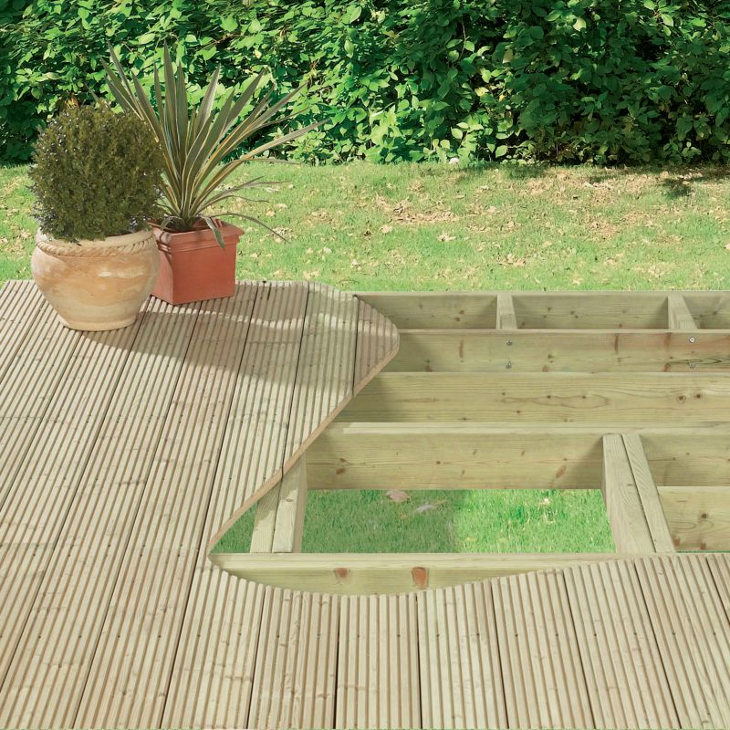 Softwood Treated Deck Pack Green Treated (L)3600 x (W)2400 x (T)17mm