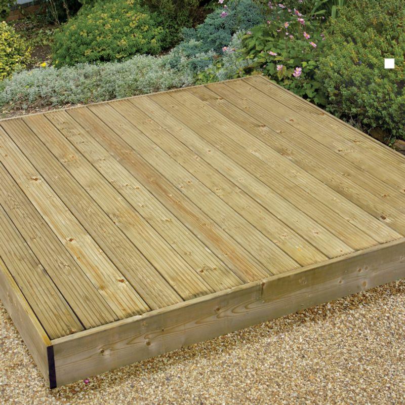 Cheapest garden decking kits wooden sheds bristol board for Garden design kits
