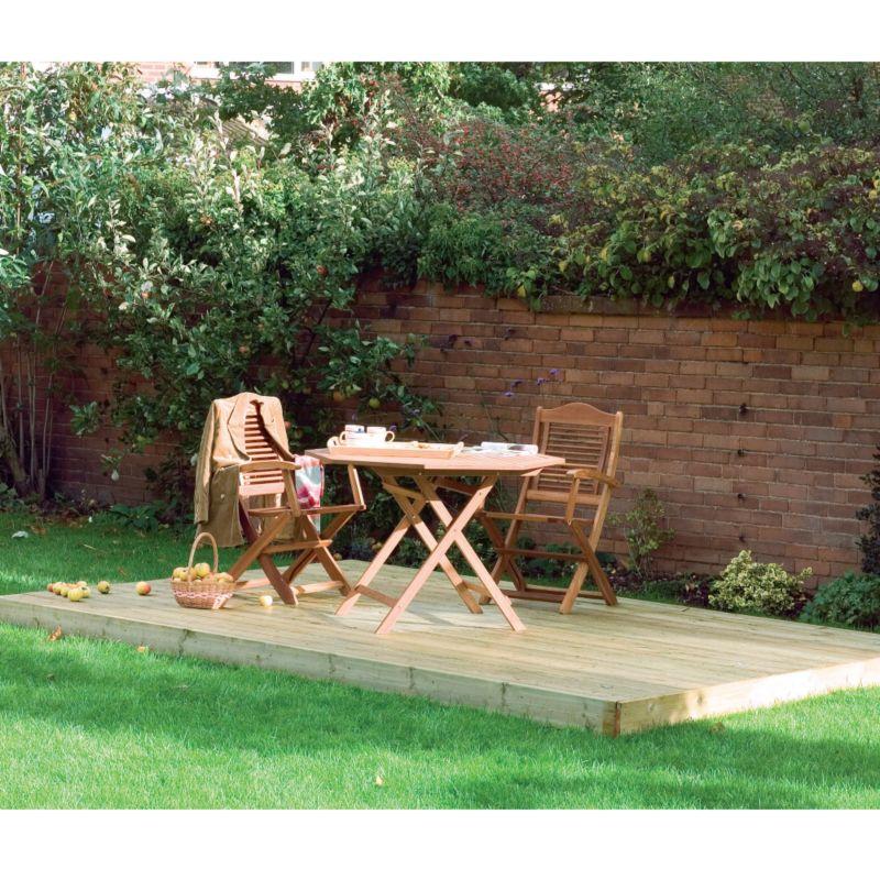 Cheapest garden decking kits for Garden decking kits b q