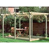 Save on this B&Q Easy-Build Deck & Pergola Kit, (L)2500×(W)3900mm
