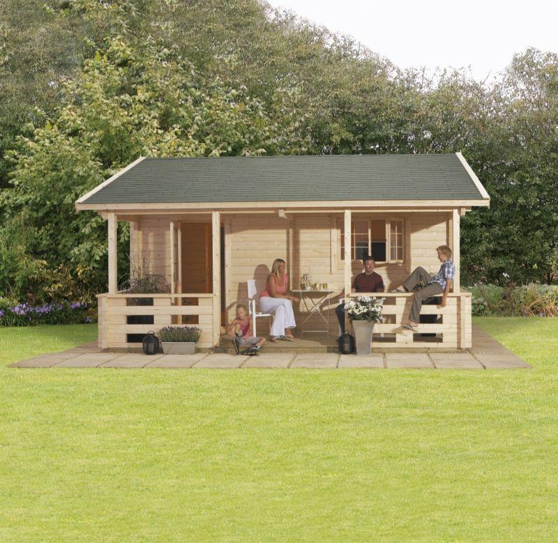 Tupa Log Cabin (H)3.15 x (W)5.59 x (D)5.88m
