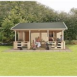 Save on this Tupa Log Cabin (H)3.15 x (W)5.59 x (D)5.88m