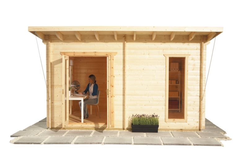 Selva Log Cabin (H)2.82 x (W)4.19 x (D)3.29m