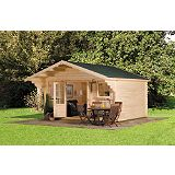 Save on this Ulkona Log Cabin (H)2.96 x (W)4.46 x (D)3.8m