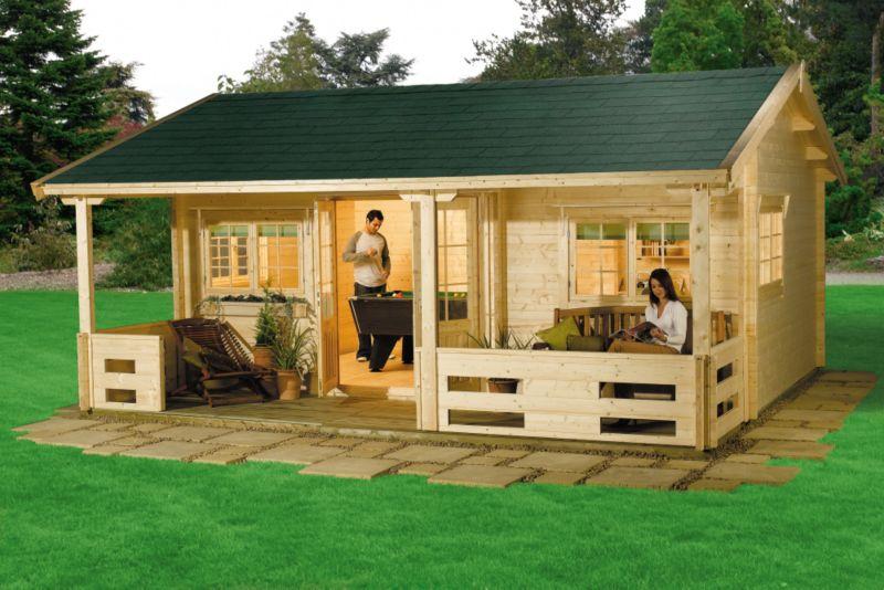 Halli Log Cabin (H)3.15 x (W)6.16 x (D)5.64m