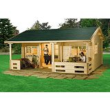 Save on this Halli Log Cabin (H)3.15 x (W)6.16 x (D)5.64m