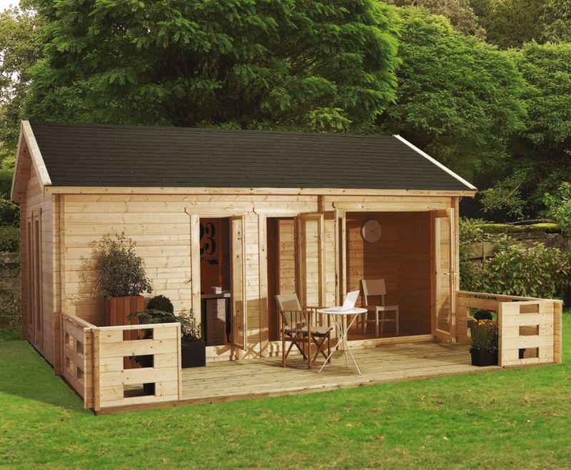 Ikkuna Log Cabin (H)3.19 x (W)6.16 x (D)4.22m
