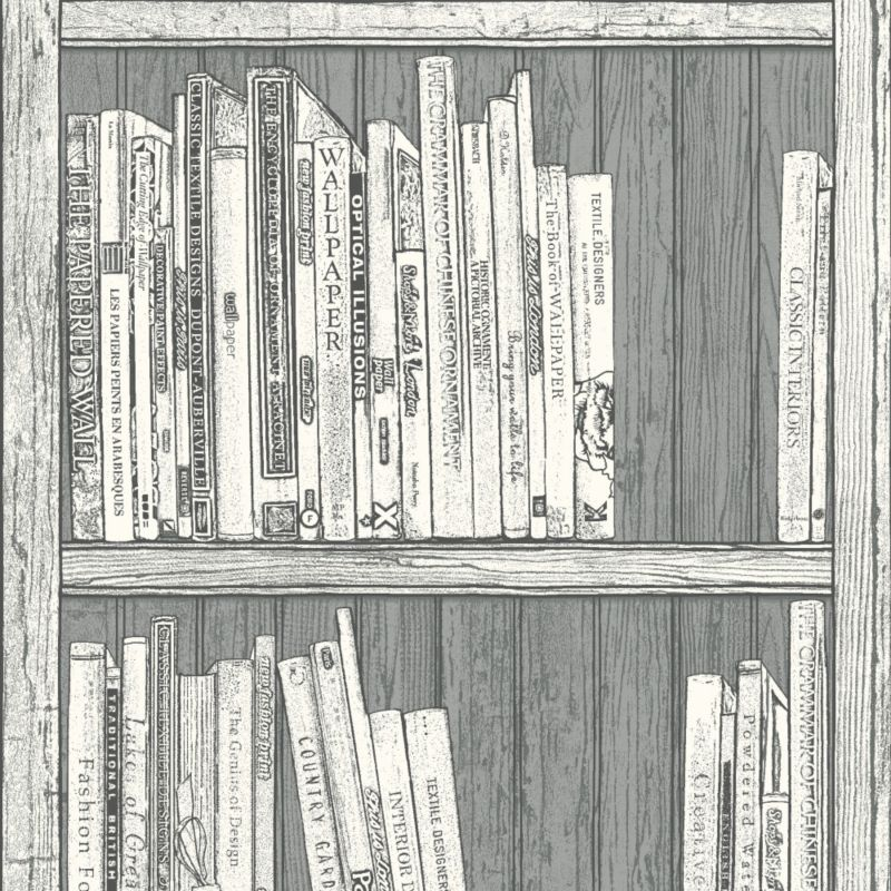 Statement bookcase wallpaper review compare prices buy for Book wallpaper for walls
