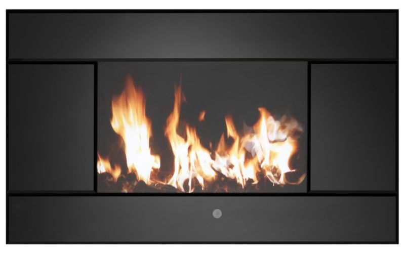 Evoke Black Glass Frame Wall Hung Electric Fire