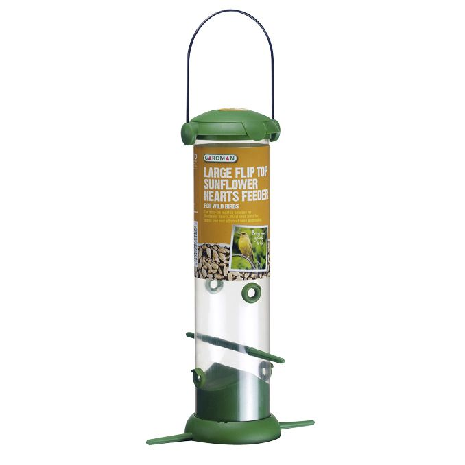 Large Flip Top Feeder for Sunflower Hearts