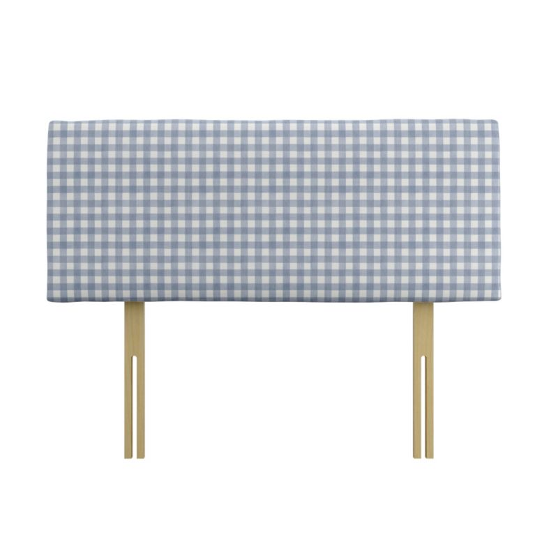 Pumpkin Headboard Blue Gingham