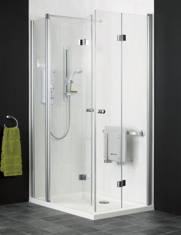 Independent Living Rectangular Shower Enclosure Chrome/Glass L/H (W)1200 x (D)800 x (H)1850mm