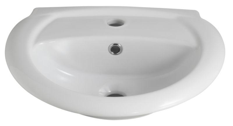 Barcelona 1 Tap Hole Cloakroom Basin White