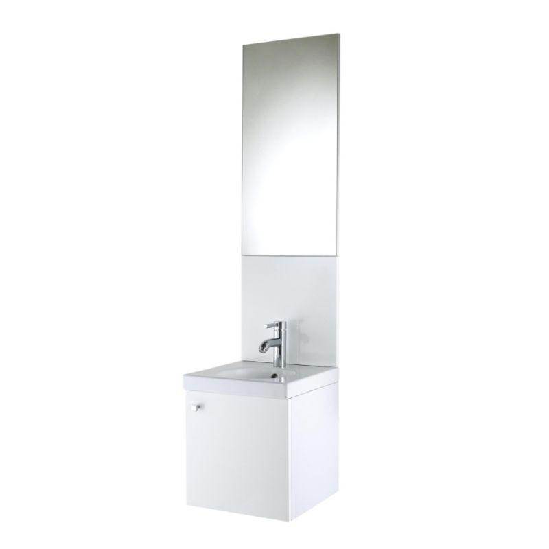 Concept 38 Vanity Unit and Cloakroom Basin White (H)430 x (W)380 x (L)370mm