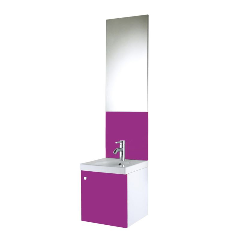 Concept 38 Vanity Unit and Cloakroom Basin White/Pink (H)430 x (W)380 x (L)370mm