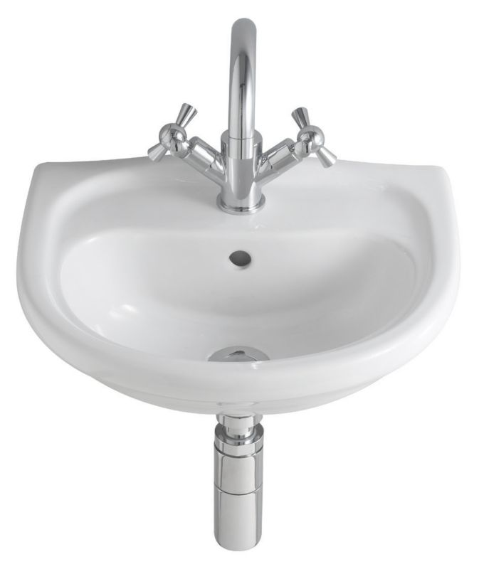 Porto Cloakroom Basin White (W)440mm