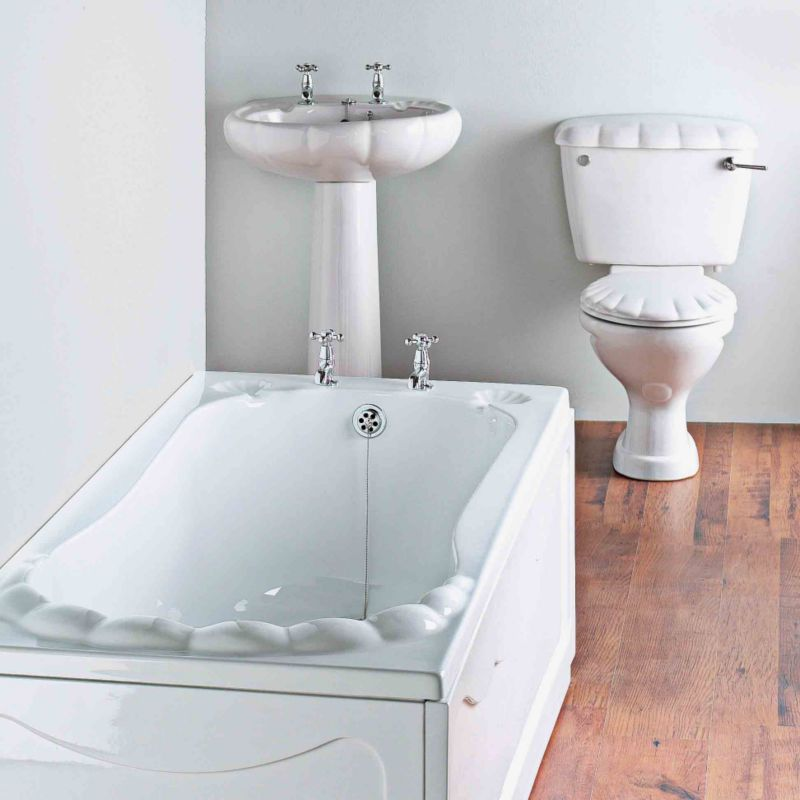 B and q azure bathroom suite white chrome effect for Bathrooms b q suites