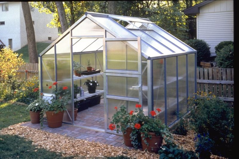 Model 9x12 - Premium Greenhouse - Aluminium Frame + Horticultural Glass + Base