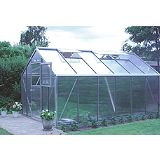 Save on this Model 9x14 - Premium Greenhouse - Aluminium Frame + Horticultural Glass + Base