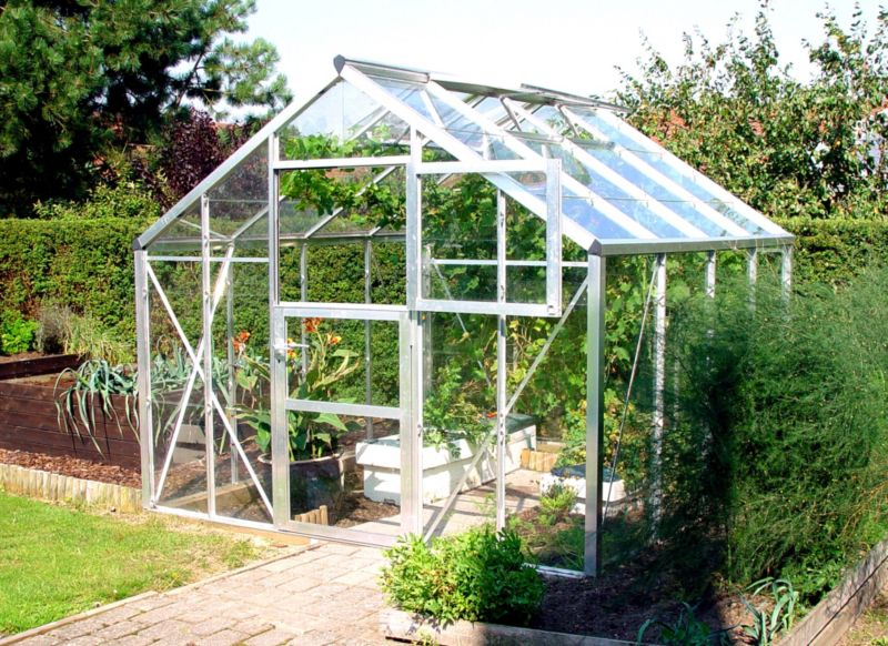 Model 9x10 - Premium Greenhouse - Aluminium Frame + Polycarbonate Glazing + Base
