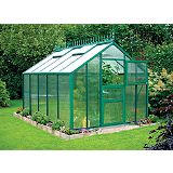 Save on this Model 9x14 - Premium Green Greenhouse - Green Aluminium Frame + Horticultural Glass + Base