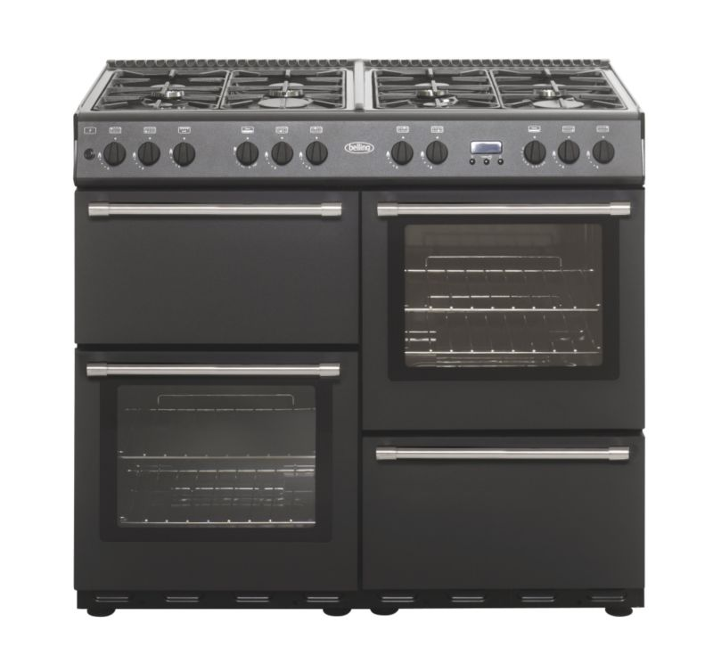 Belling Dual Fuel Country Classic Range Cooker Anthracite 100cm 100DF