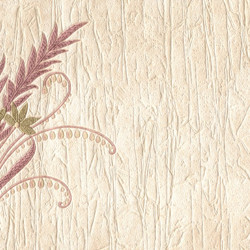 Italienesque Motif Wallcovering - Plum