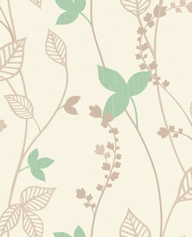 Copenhagen Leaf Wallcovering Mint 10m M0305