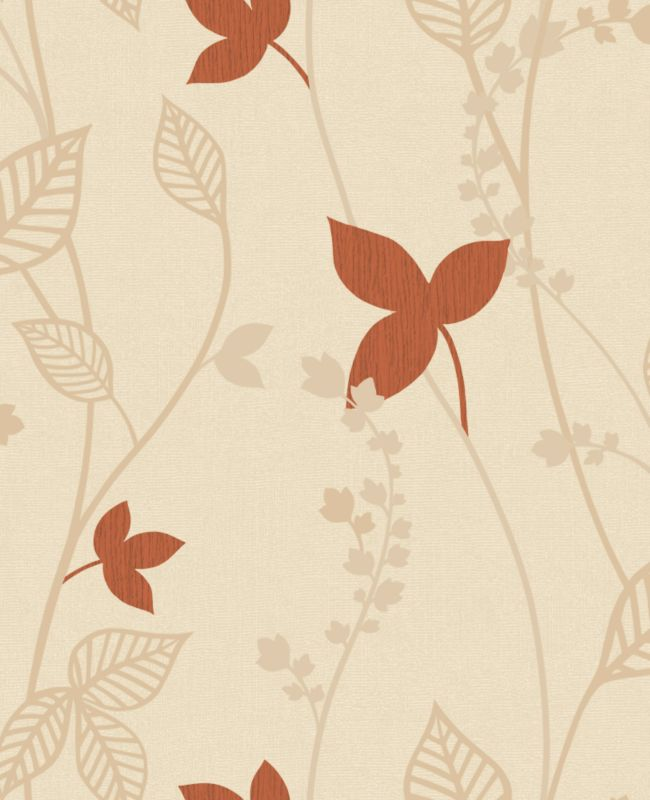 Copenhagen Leaf Wallcovering Copper 10m