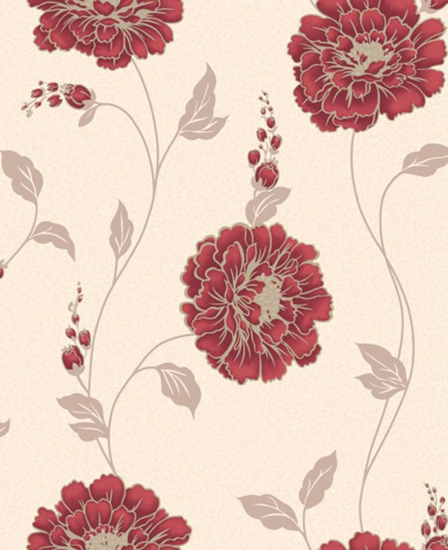 Scarlet Rose Wallcovering Red 10m M0456
