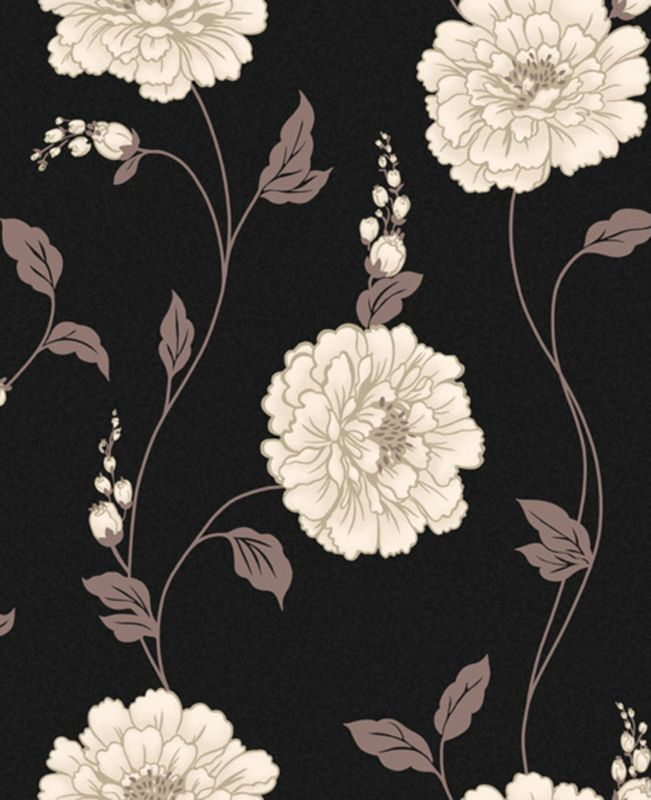 Scarlet Rose Wallcovering Black 10m M0457