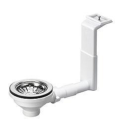 Blanco Chrome Effect Plastic Sink Fixing Departments DIY at B&Q
