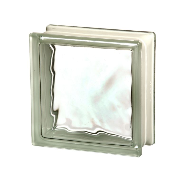 Shackerley Flemish Glass Single Block Clear (H)190 x (W)190mm