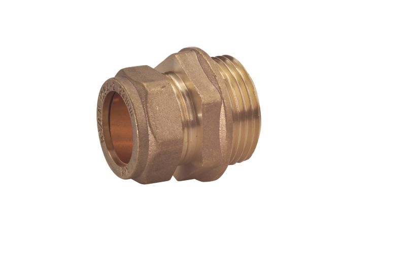 Compression Straight Connector 15mm x 1 2 Inch (Male)