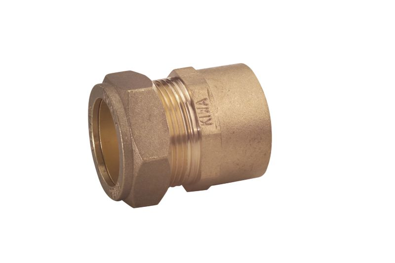 Compression Straight Connector 15mm x 1 2 Inch (Female)