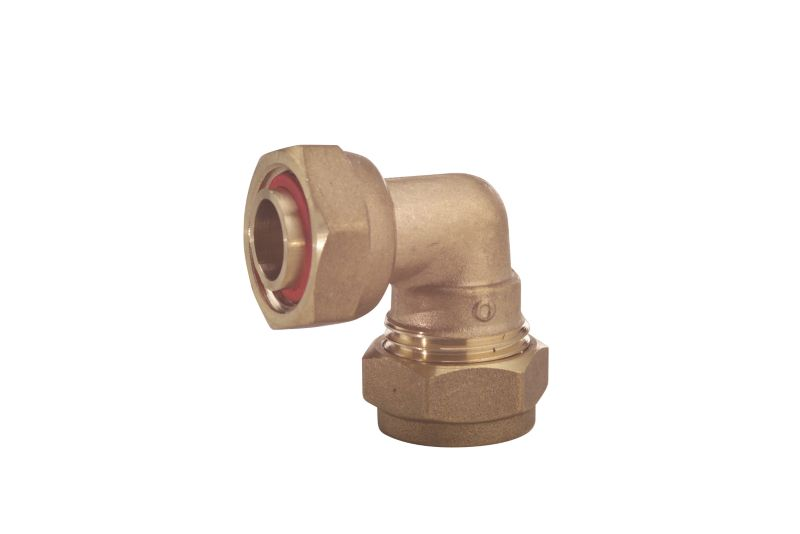 Compression Bent Tap Connector 15mm x 1 2 Inch #1#Female#2#
