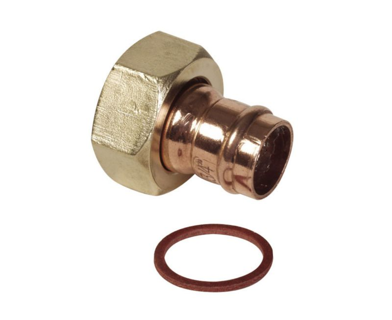 Solder Ring Straight Tap Connector (Dia) 15mm x 1 2 Inch (Female)