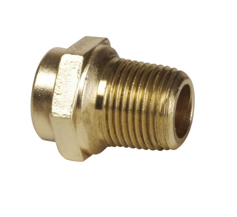 Solder Ring Straight Connector (Dia) 15mm x 1 2 Inch (Male)
