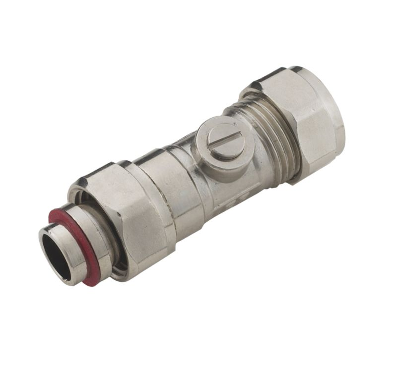 Compression Serviceman Straight Valve 15mm x 1 2 Inch