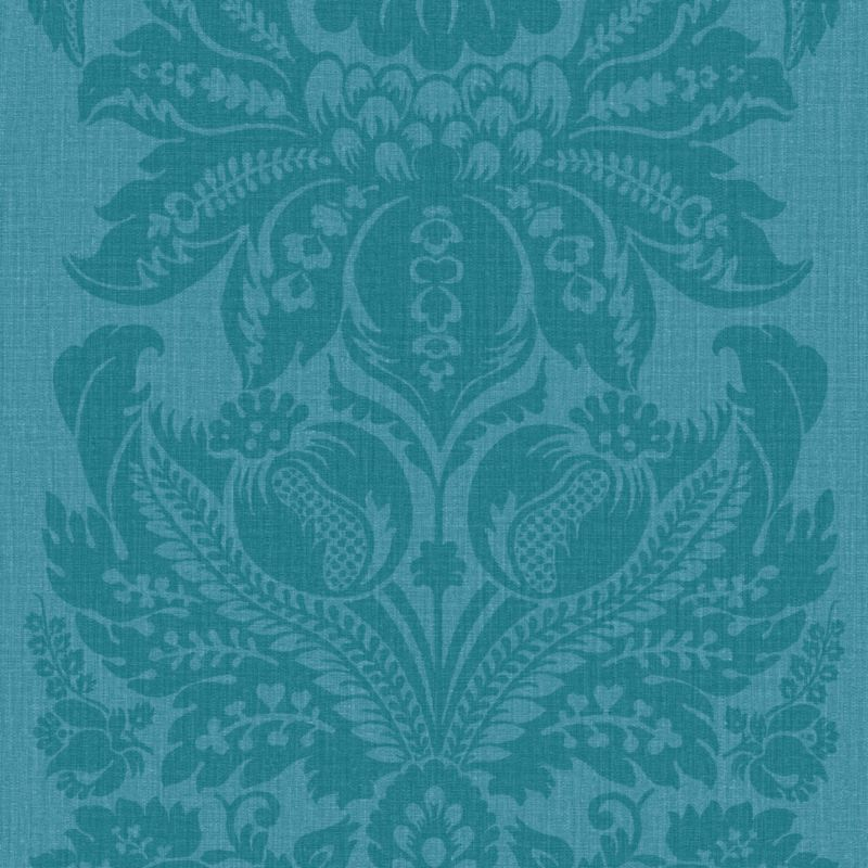 arthouse vintage wallpaper in teal b q
