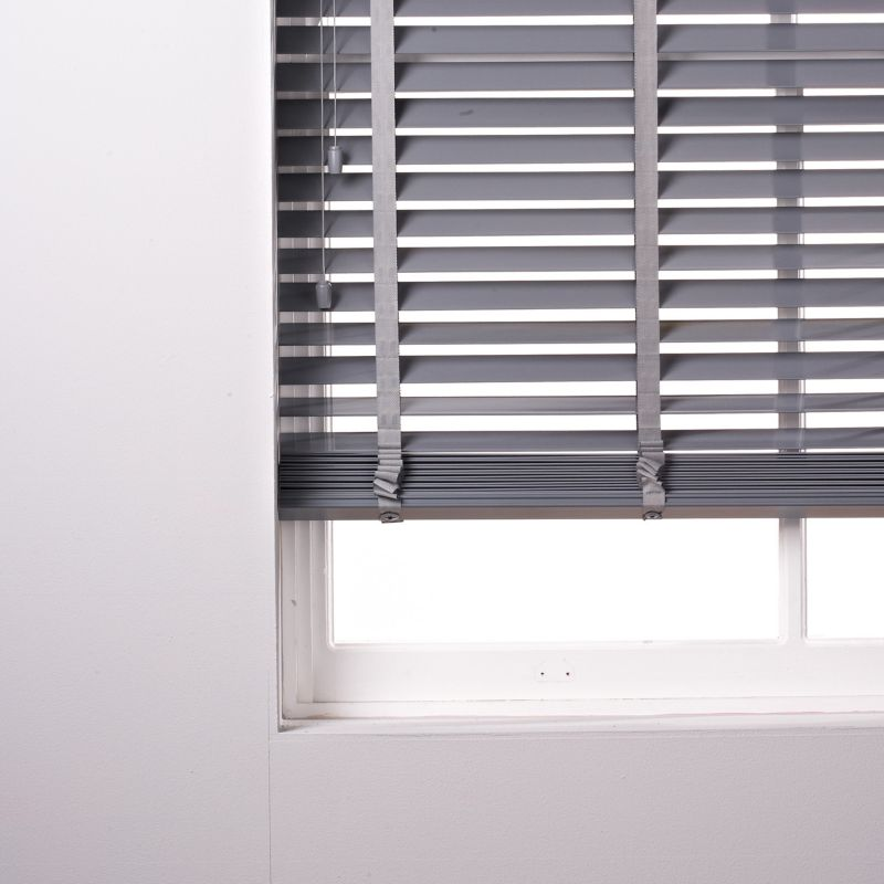 Colours Silvia 50mm Wide Slat Pvc Venetian Blind In Grey