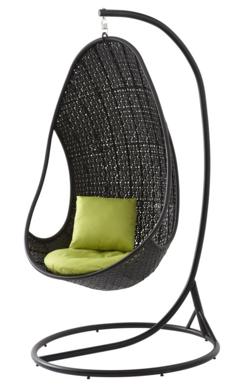 B q blooma black wicker metal hanging egg garden chair customer reviews product reviews - Second hand egg chair ...